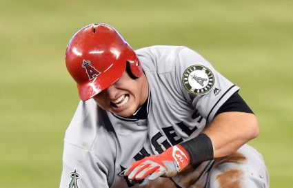 Mike Trout remains injured